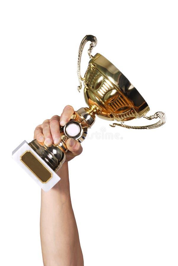 золотистый трофей стоковые изображения