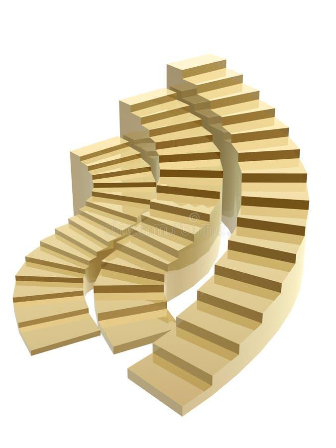 золотистый успех шагов к иллюстрация вектора