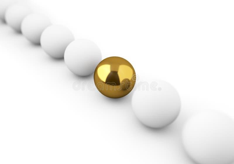 Золотистый шарик среди белизны одни бесплатная иллюстрация