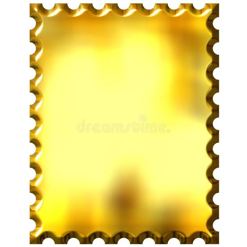 золотистый штемпель 3d иллюстрация вектора