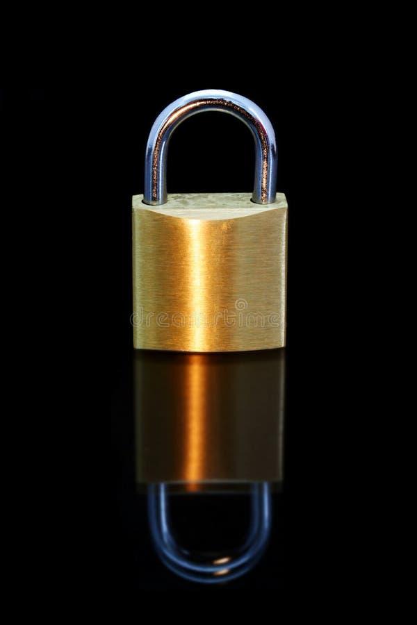 золотистый padlock стоковое изображение