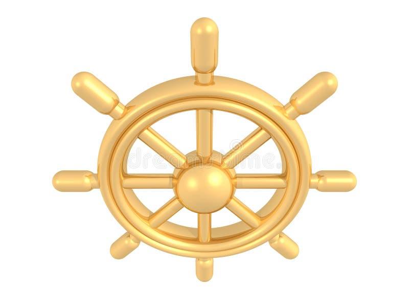 золотистый rudder иллюстрация штока