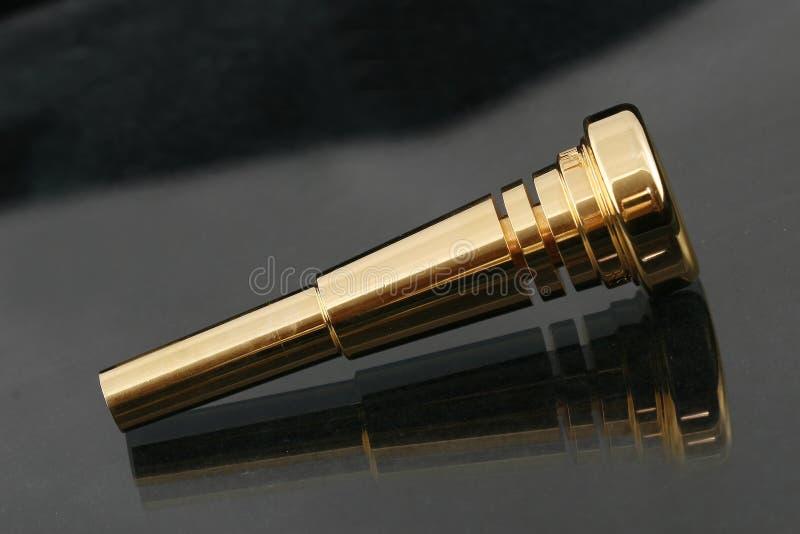 золотистый trumpet стоковая фотография rf