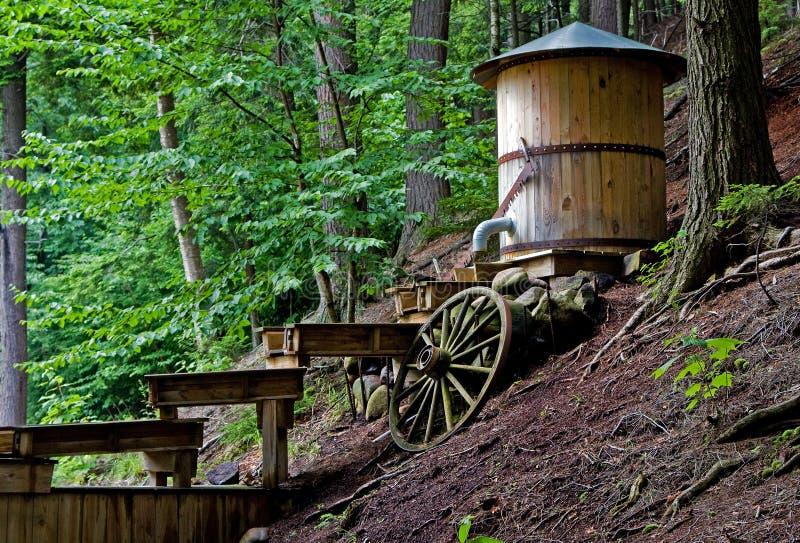 золотодобывающий рудник стоковое фото rf