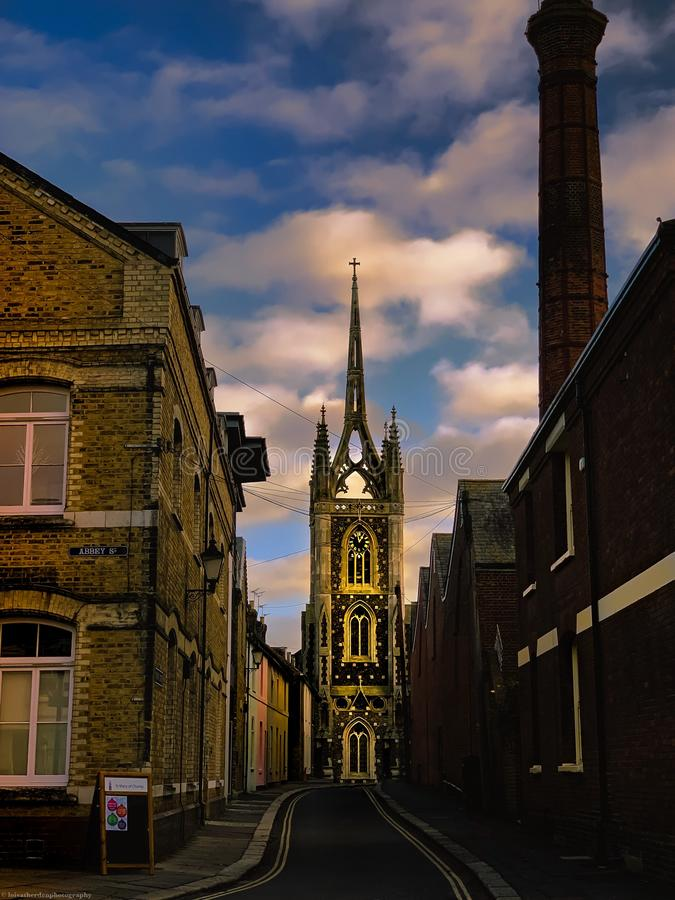 Золотое зарево церков стоковое изображение