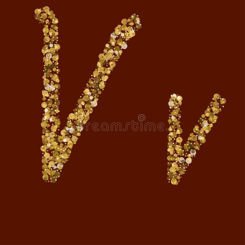 Золотое письмо яркого блеска xx иллюстрация вектора