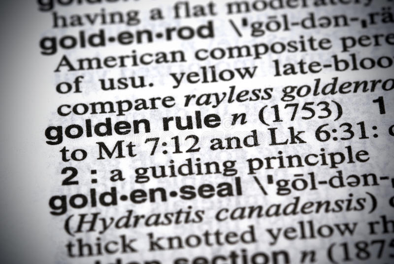 золотое правило стоковое изображение rf