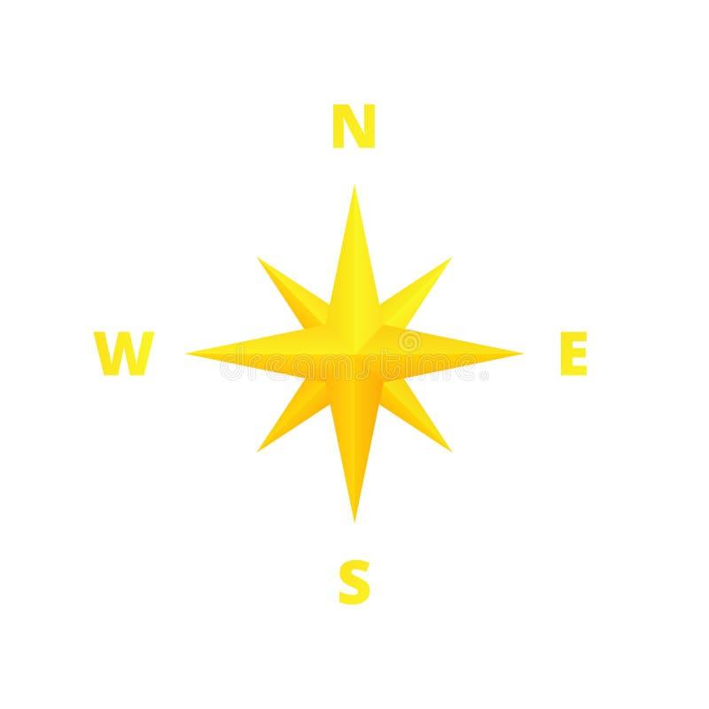 Золотой ветер поднял иллюстрация штока