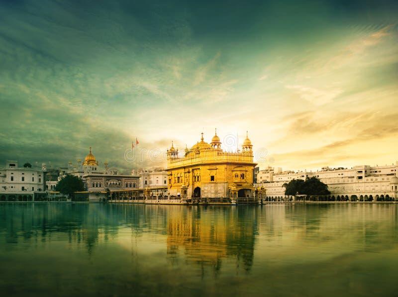 Золотой висок Амритсар, Harmandir Sahib стоковые фотографии rf