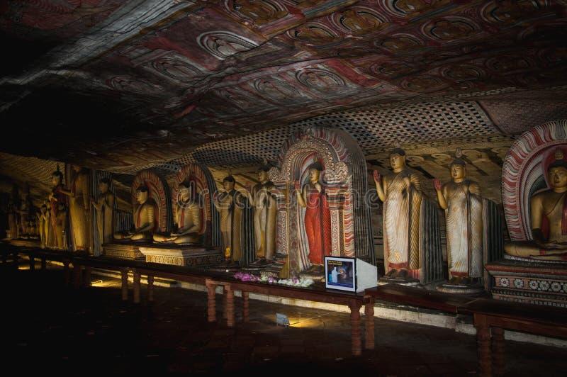 Золотой висок Dambulla Буддийский музей Sri Lanka ashurbanipal стоковое фото rf