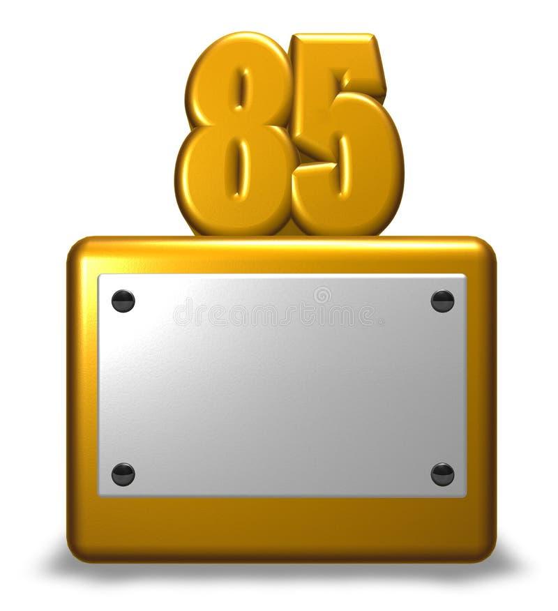 Золотой восемьдесят пять иллюстрация штока