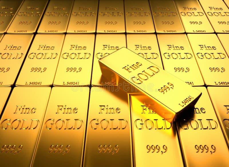 золотой ингот иллюстрация штока