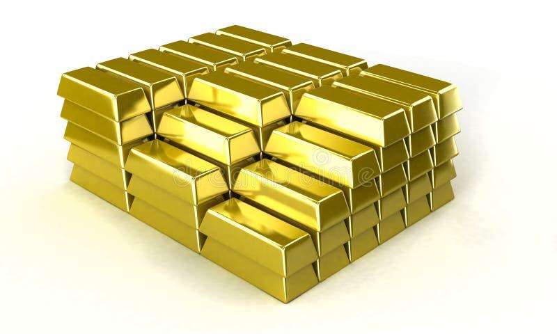 золотой ингот иллюстрация вектора