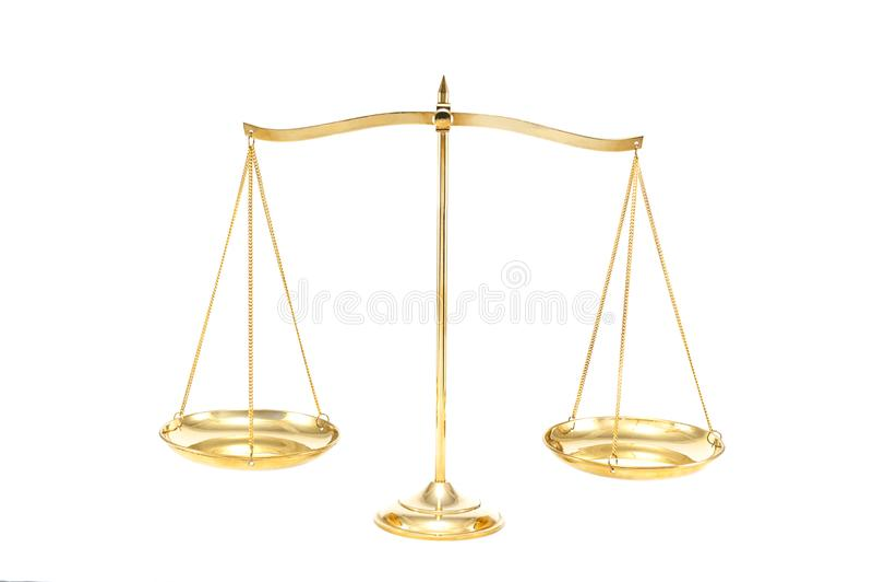 Золотой латунный баланс стоковое фото rf