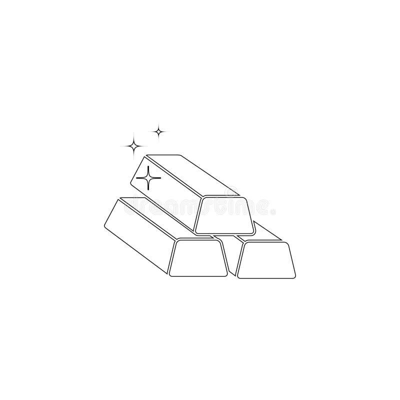 Золотой серебряный бар плоский значок вектора бесплатная иллюстрация