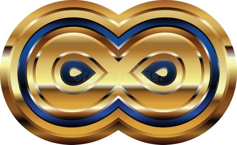 Золотой символ шрифта иллюстрация штока