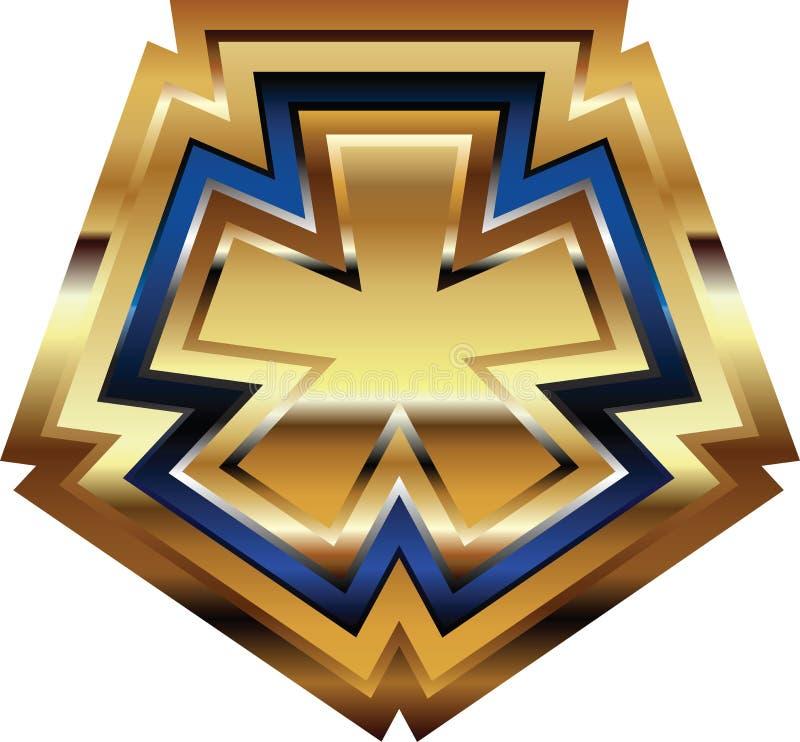 Золотой символ шрифта иллюстрация вектора
