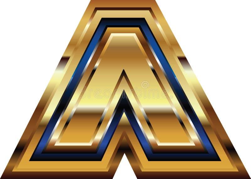 Золотой символ шрифта бесплатная иллюстрация