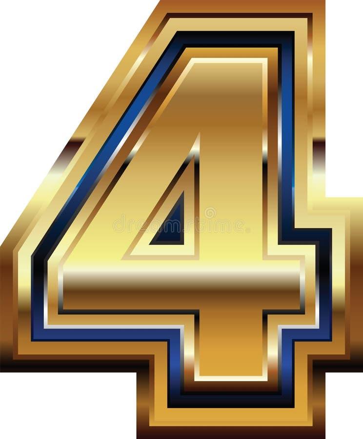 Золотой шрифт 4 бесплатная иллюстрация
