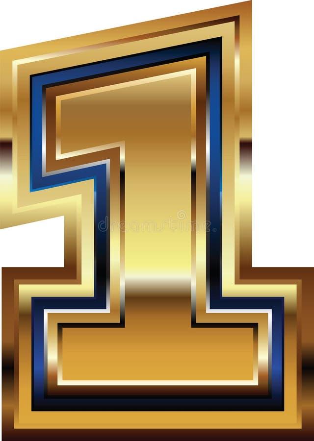 Золотой шрифт 1 иллюстрация штока