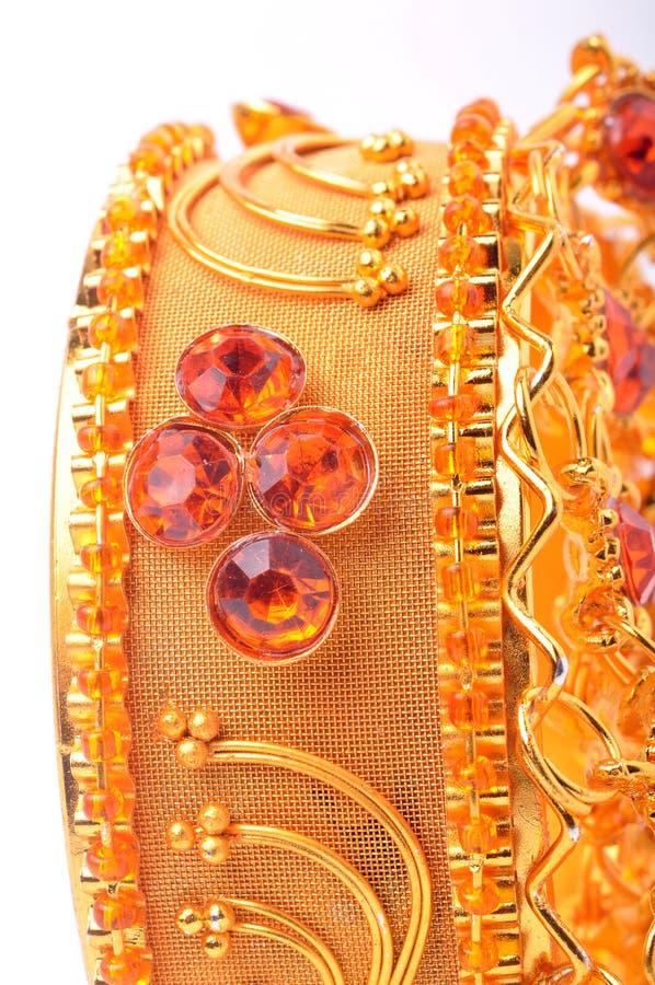золото браслета стоковое изображение