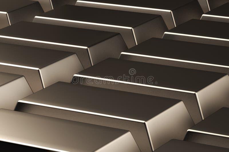 Золото в слитках абстракции 3d представляют иллюстрация вектора