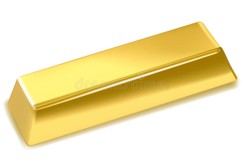 золото в слитках иллюстрация вектора