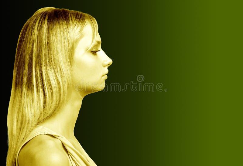золото девушки стоковое фото