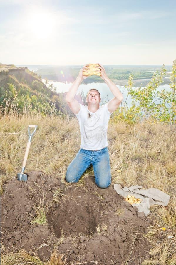 золото землекопа стоковые изображения rf