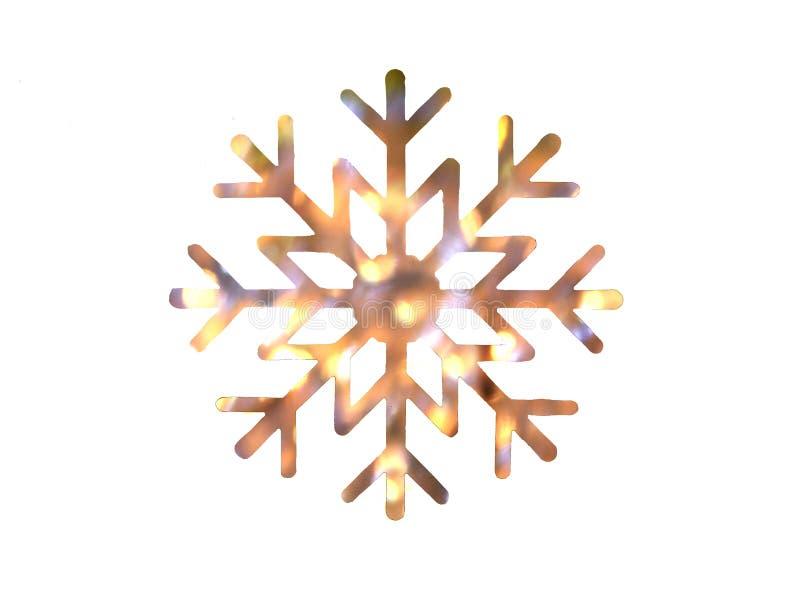 Золото и желтый дизайн снежинки стоковое изображение rf