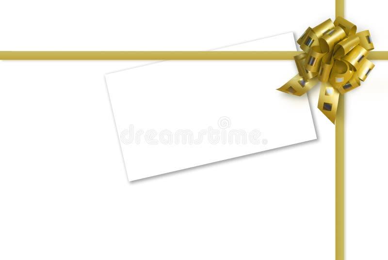 золото карточки смычка иллюстрация вектора