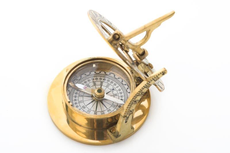 золото компаса стоковое изображение