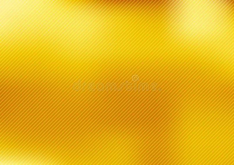 Золото конспекта запачкало предпосылку стиля градиента с раскосными текстурированными линиями роскошные ровные обои бесплатная иллюстрация
