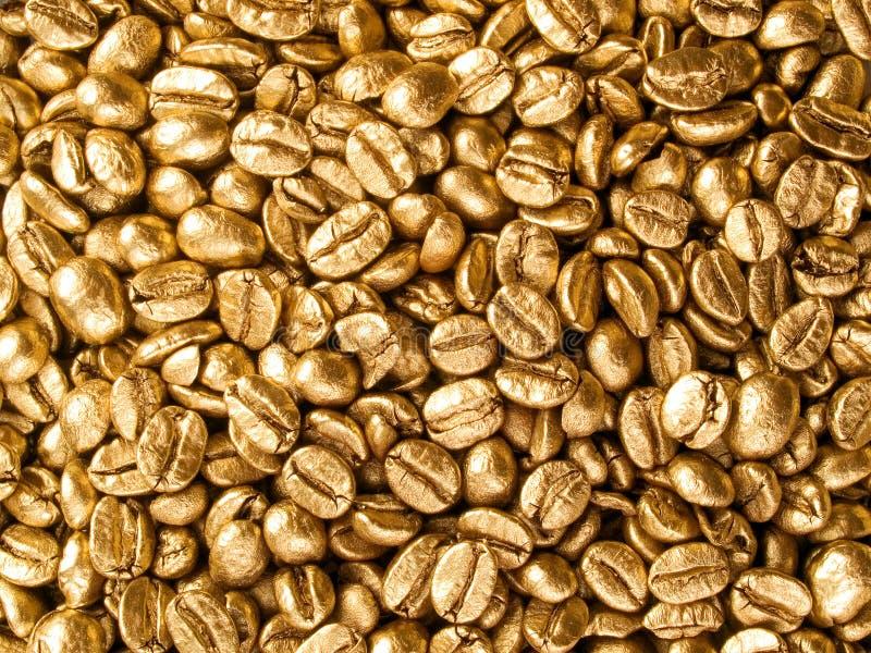 золото кофе крупного плана предпосылки стоковое фото