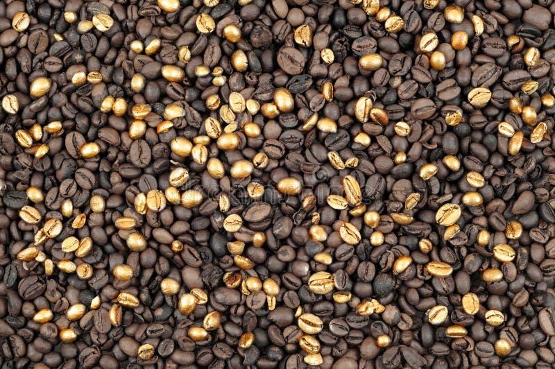 золото кофе предпосылки стоковые фотографии rf