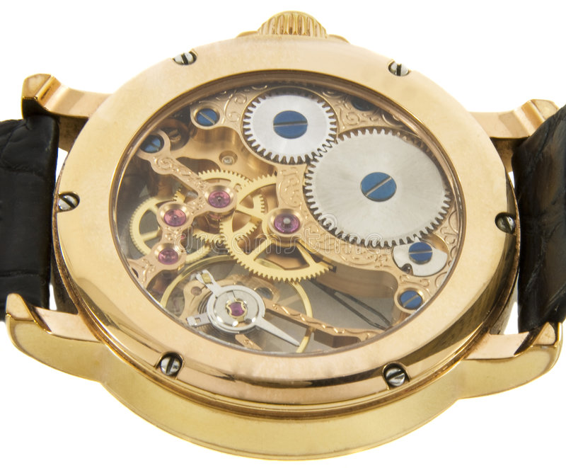 золото крупного плана хронографа сделало богатый вахту швейцарца стоковое изображение