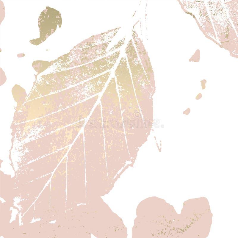 Золото листвы осени розовое краснеет предпосылка иллюстрация штока