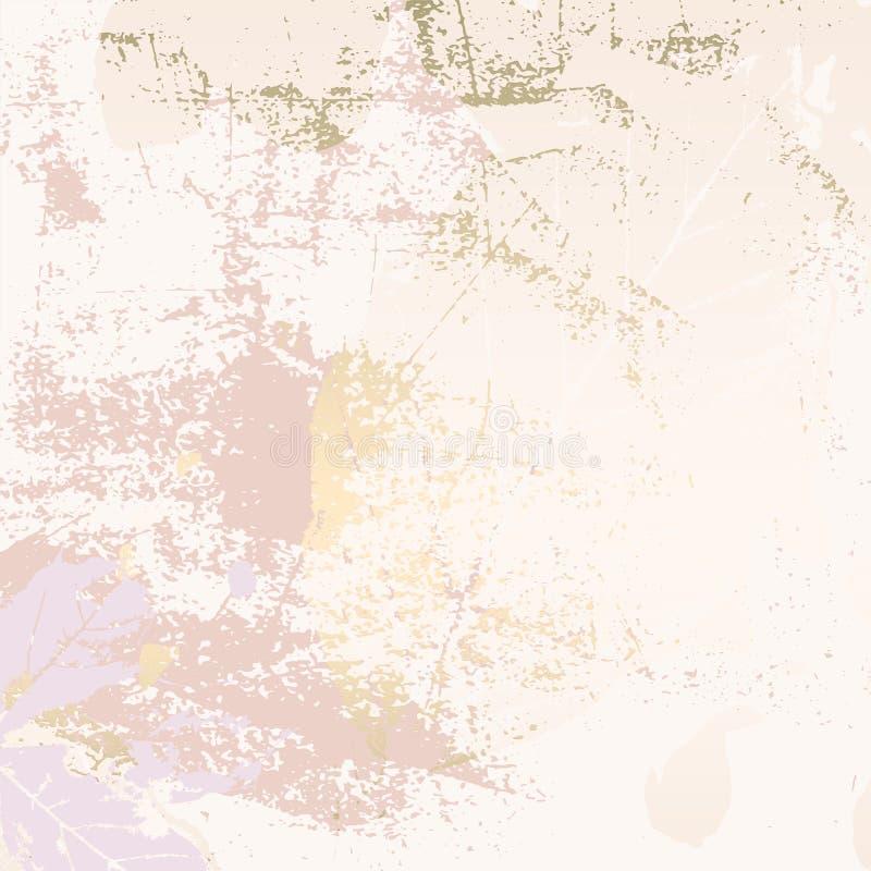 Золото листвы осени розовое краснеет предпосылка иллюстрация вектора
