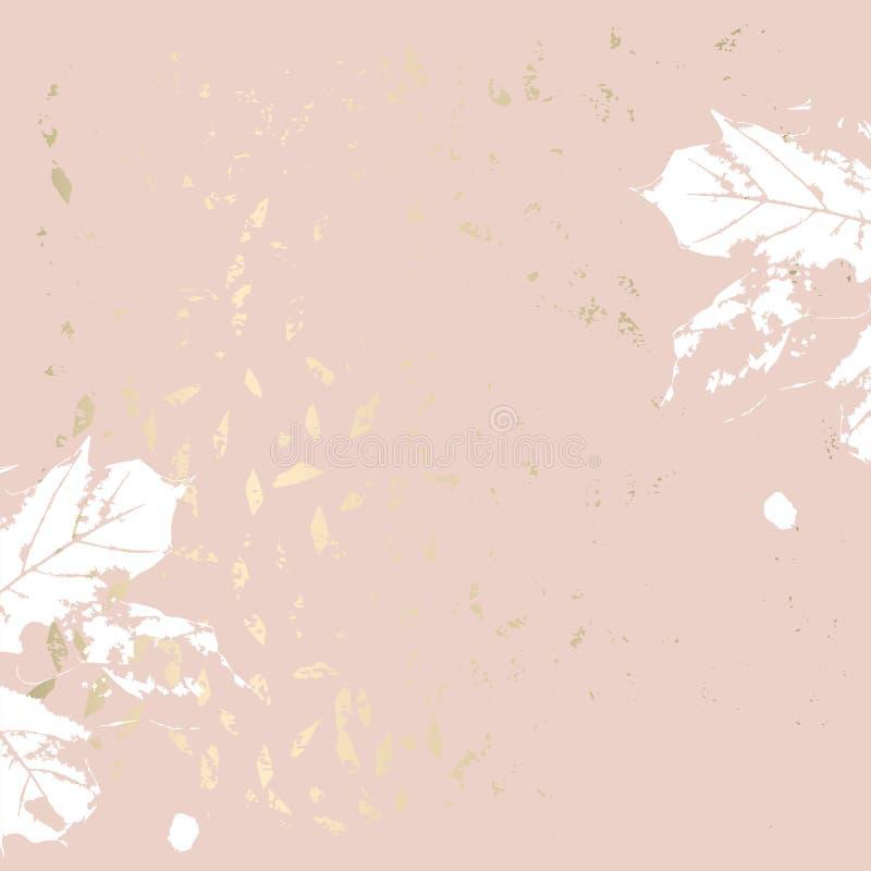 Золото листвы осени розовое краснеет ультрамодная шикарная предпосылка бесплатная иллюстрация