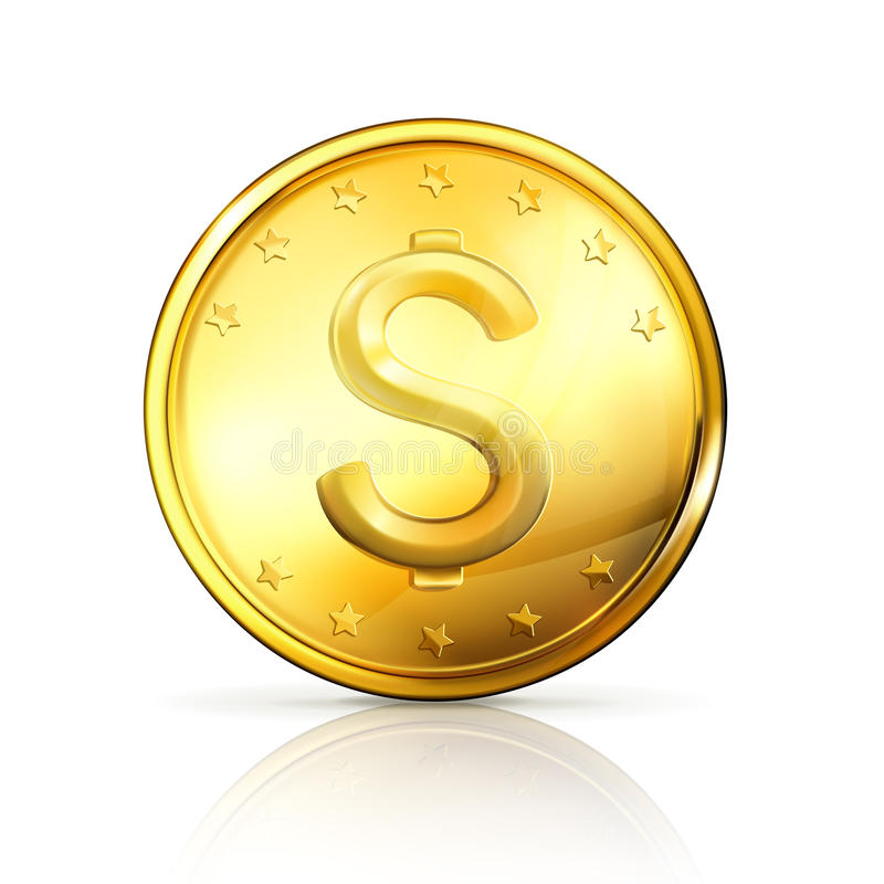 золото монетки иллюстрация вектора