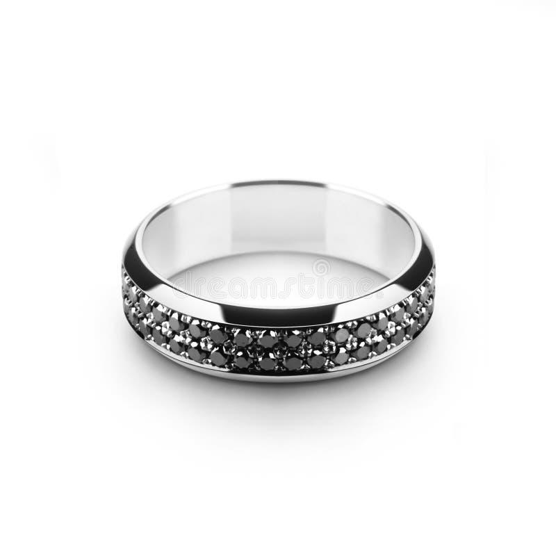 золото он белизна венчания кольца стоковые фото