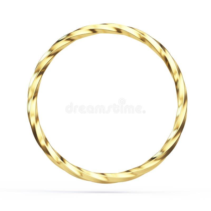 Золото переплело кольцо изолированное на белой предпосылке стоковое фото rf