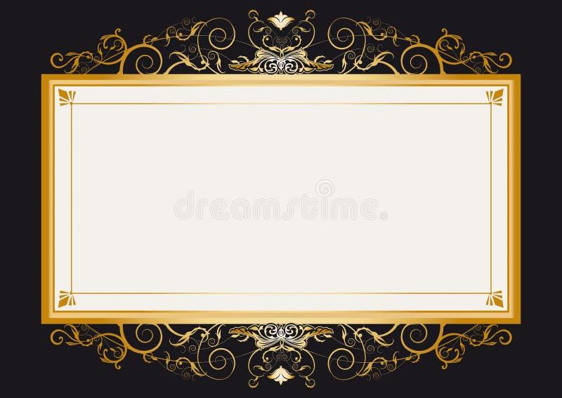 золото рамки ретро иллюстрация вектора