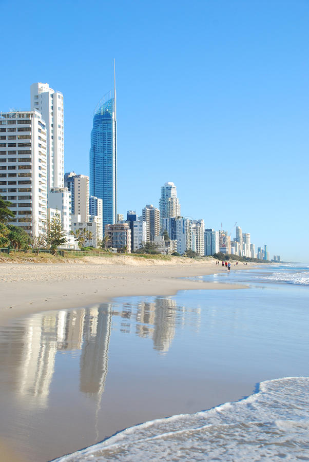 золото свободного полета города Австралии стоковое фото