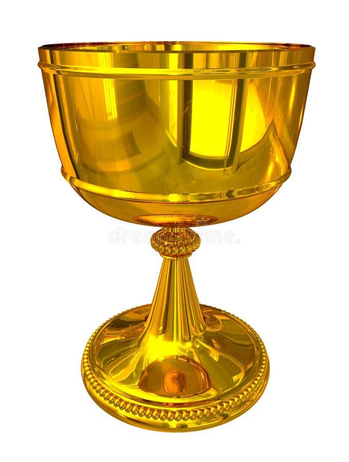 золото чашки иллюстрация вектора