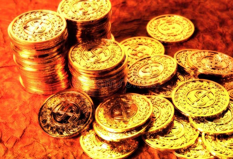 золото 2 монеток стоковое изображение rf
