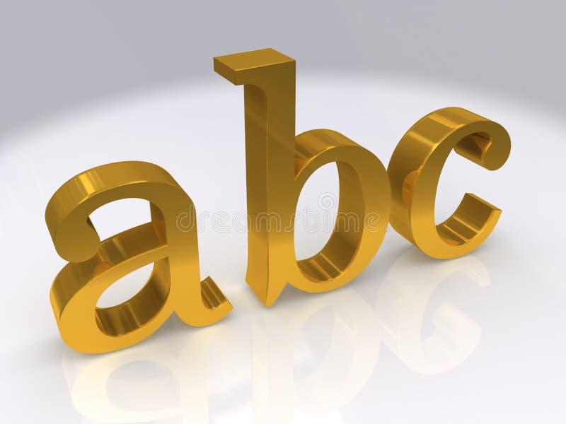 золото abc иллюстрация вектора