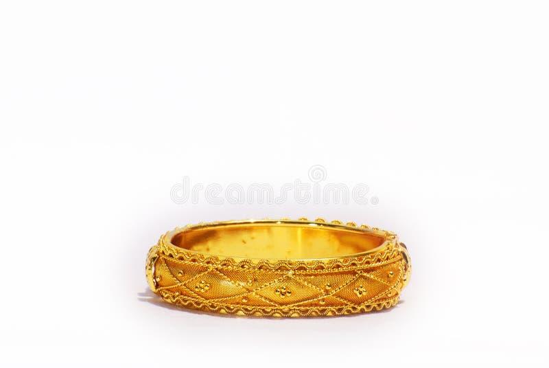 золото bangle стоковое изображение rf
