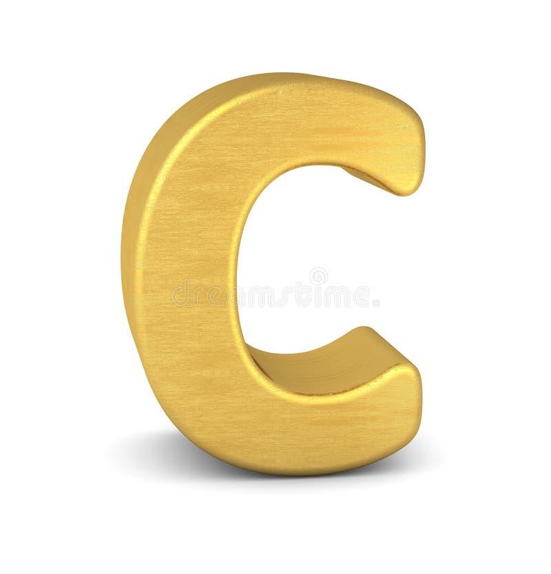 золото c письма 3d иллюстрация штока