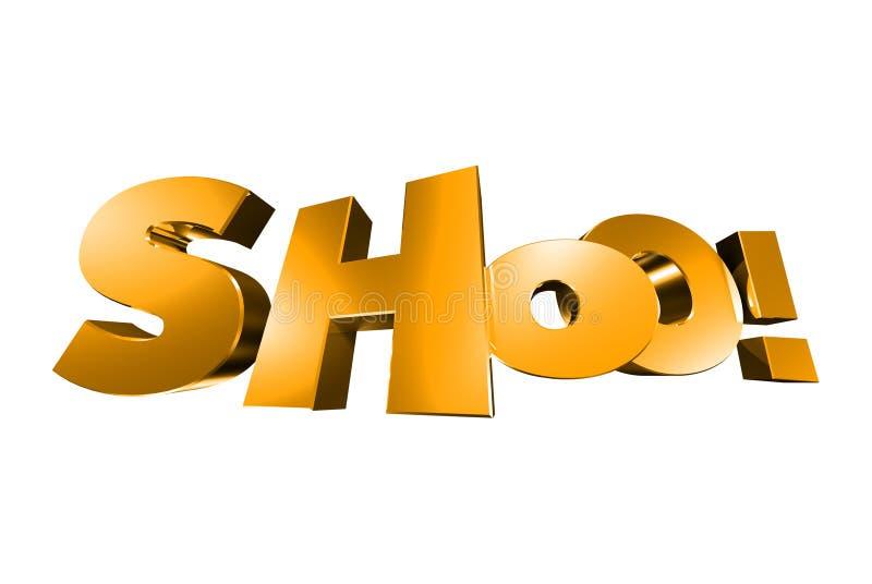 Золото 3D Shooo бесплатная иллюстрация